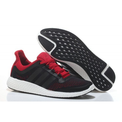 Кроссовки Adidas Pure Boost Black-Red (W321)