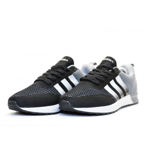 Кроссовки Adidas Neo Black/Grey (W325)