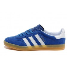 Кроссовки Adidas Originals Gazelle Indoor Blue-White (W313)