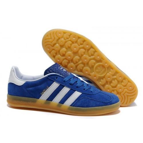 Кроссовки Adidas Originals Gazelle Indoor Blue-White (W313)