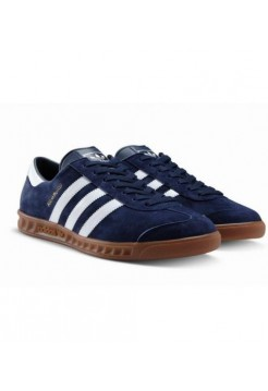 Кроссовки Adidas Hamburg Navy Blue/White (W124)