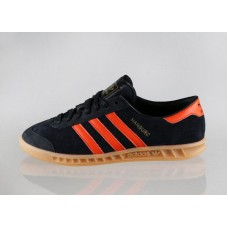 Кроссовки Adidas Hamburg Core Black/Orange (W124)