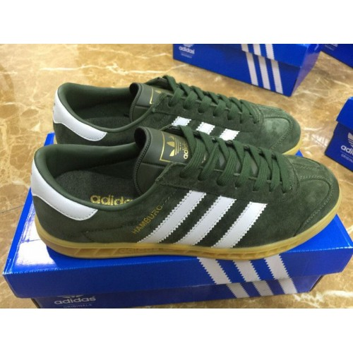 Кроссовки Adidas Hamburg Green/White (W131)