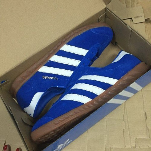Кроссовки Adidas Hamburg Blue/White (W132)