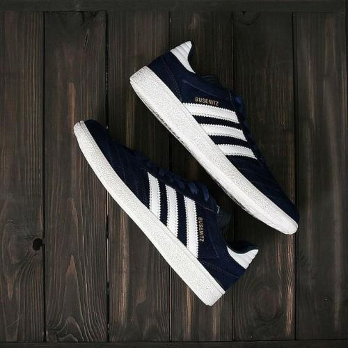 Кроссовки Adidas Busenitz Blue/White (W329)