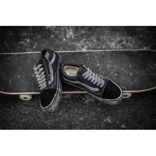Кеды Vans Skateboard Shoes Black-Grey (E115)