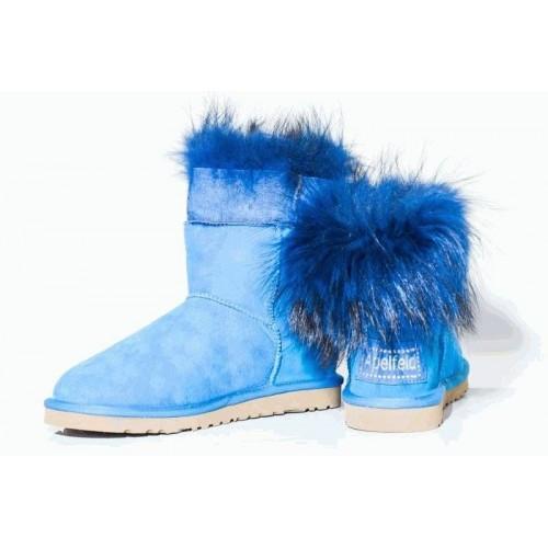 Угги TALL RACCOON STYLE BLUE (Н911)