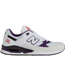 Кроссовки New Balance W530 White/Purple (Е413)