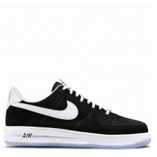 Кроссовки Nike Lunar Force 1 Black Suede (Е281)