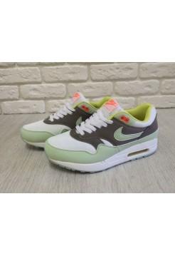 Кроссовки Nike Air Max 87 Premium Green/White (Е-512)