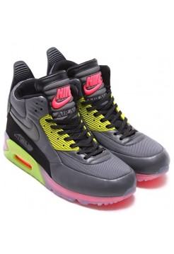 Кроссовки Nike Air Max 90 Sneakerboot Ice Dark Grey/Black (Е364)