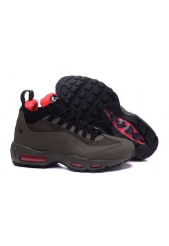 Кроссовки Nike Air Max 95 Sneakerboot Dark Brown/Red (Е612)