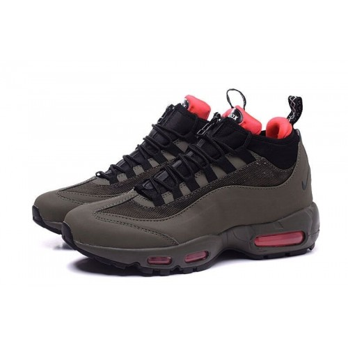 Кроссовки Nike Air Max 95 Sneakerboot Dark Brown/Red (Е612)