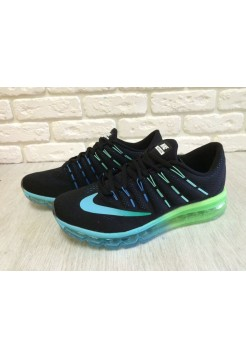 Кроссовки Nike Air Max 2016 Black /Blue/Green (Е129)