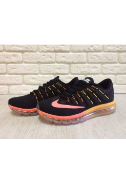 Кроссовки Nike Air Max 2016 Black/Orange (Е130)