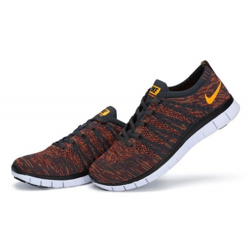 Кроссовки Nike Flyknit NSW Anthracite/Laser Orange (E246)
