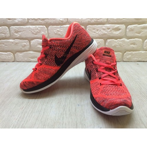 Кроссовки Nike Flyknit Lunar 3 All Orange (E242)