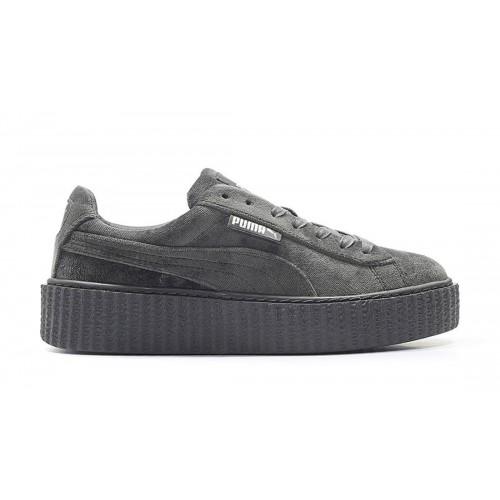 Кроссовки Puma Rihanna Creeper Velvet Grey (Е361)