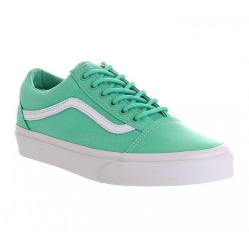 Кеды Vans Old Skool Green-White (W105)
