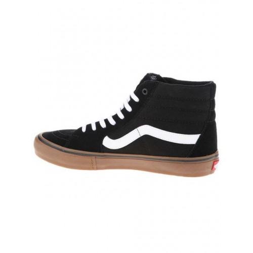 Кеды Vans SK8 Hi Black-White-Gum (W361)