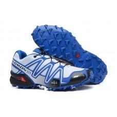 Кроссовки Salomon Speedcross 3 Сине-белые (О435)