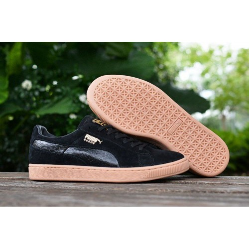 Кроссовки Puma Suede Leather Classic Black (О314)