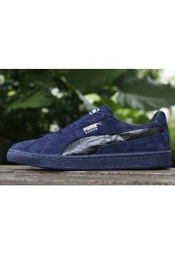 Кроссовки Puma Suede Leather Classic Navy Blue (О317)