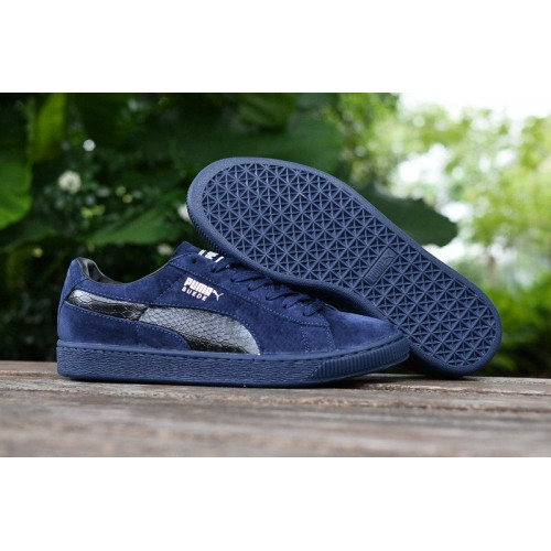 Кроссовки Puma Suede Leather Classic Navy Blue (О317)