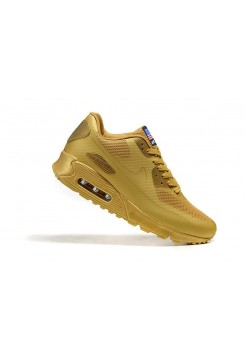 Кроссовки Air Max 90 VT Leather Gold (О963)