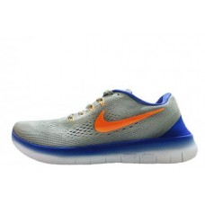 Кроссовки Nike Free Run Flyknit V.1 Grey Blue Orange (О128)
