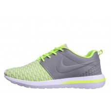 Кроссовки Nike Roshe Run Flyknit Green Grey (О-415)