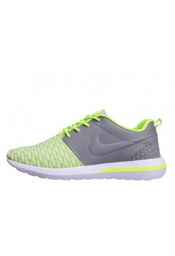 Кроссовки Nike Roshe Run Flyknit Green Grey (О-415)