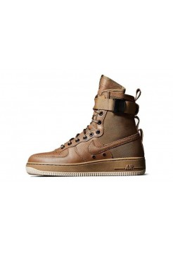 Кроссовки Nike Air Force High SF1 Brown (O511)