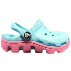 Шлепанцы Crocs Classic Cayman Light Blue Pink (O425)