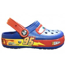 Шлепанцы Crocs Cars CrocsLights Clog Blue LED (О459)