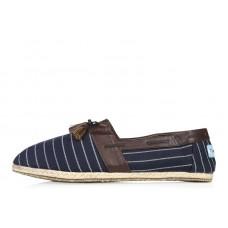 Эспадрильи Toms Classic Сине-коричневые (О137)