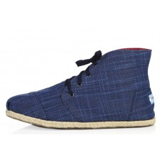 Слипоны Toms High Blue (О543)