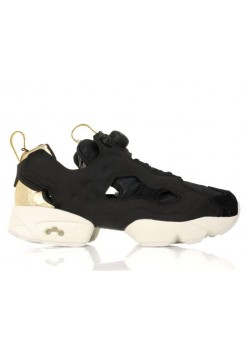 Кроссовки Reebok Insta Pump Fury PM Black-Gold (Е351)