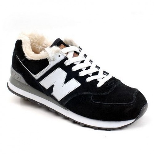 Кроссовки New Balance 574 Winter Black (Е435)