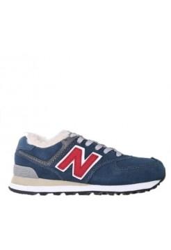 Кроссовки New Balance 574 Blue/Red (Е436)