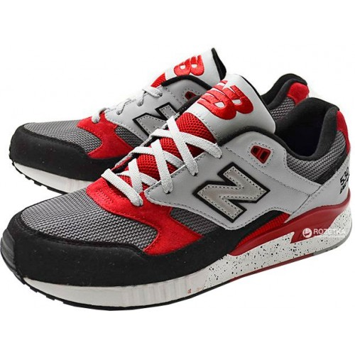 Кроссовки New Balance M530PSB Grey Black Red (Е417)