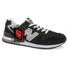 Кроссовки New Balance 996 Черно-серые (А123)