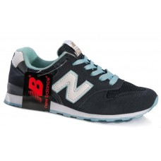 Кроссовки New Balance 996 black-light blue (А124)