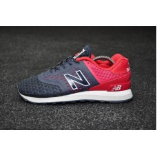 Кроссовки New Balance 574 Navy Blue-Red (W112)