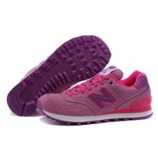 Кроссовки NEW BALANCE 574 Фиолетовые джинсовые