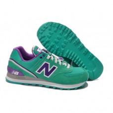 Кроссовки NEW BALANCE 574 Зелено-пурпурные