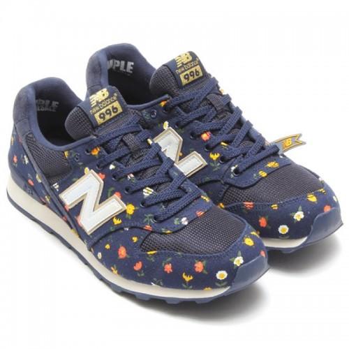 Кроссовки New Balance 996 Синие с цветами